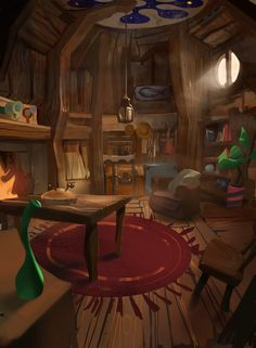Art Fantasy Cottage Interior 2