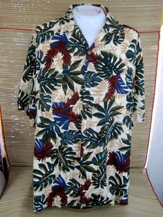 08d69fb06b5 HILO HATTIE Men Hawaiian ALOHA shirt pit to pit 31 3XL tropical floral  rayon  HiloHattie  Hawaiian