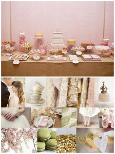 Pink and Gold, Pastels, Super Sweet Wedding Inspiration Board.   (I Love this Site)
