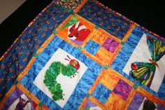 Eric Carle The Hungry Caterpillar, Brown Bear, Brown Bear and Fireflies crazy quilt. $225.00, via Etsy.