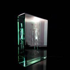'Entity II' Jo Mitchell 2015 Glass, kiln formed, air entrapment figure