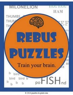 Rebus puzzles can help stretch your mind and stimulate creativity. Print these out and see how many your friends can guess. Rebus Puzzles, Mind Puzzles, Logic Puzzles, Logic Games, Brain Teasers Riddles, Brain Teaser Puzzles, Fun Brain, Brain Games, Puzzle Club