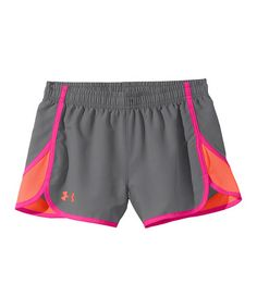 Look what I found on #zulily! Graphite UA Escape 3'' Shorts - Girls by Under Armour® #zulilyfinds For A