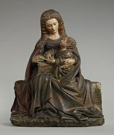 Virgin and Child, ca. 1420  Attributed to Claus de Werve (Franco-Netherlandish, ca. 1380–1439, active in Burgundy, 1396–ca. 1439)  French; Made in Poligny, Burgundy  Limestone, polychromy, gilding