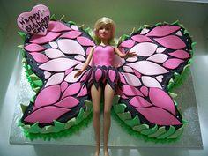 Barbie Mariposa Cake   Flickr - Photo Sharing!