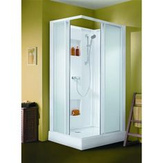 cabine de douche ferm e access confort 120x80 mm angle porte coulissante verre transparent. Black Bedroom Furniture Sets. Home Design Ideas