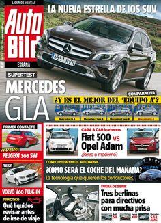 Revista #Autobild España 432. #Mercedes GLA. #Fiat 500 Vs #Opel Adam. #Volvo V60.