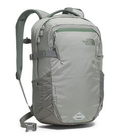 The North Face Men's Iron Peak Backpack - Moon Mist Grey/Duck Green Back to School Popular Backpacks, Cute Backpacks, College Backpacks, Apocalyptic Fashion, Backpack Reviews, Computer Bags, Hiking Equipment, North Face Backpack, The North Face