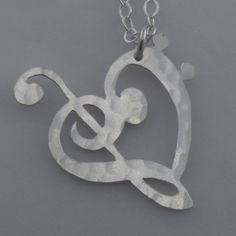Sterling Silver  For the Love of Music  Musical by ninasjewelry