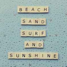 summer - beach, sand, surf and sunshine I Love The Beach, Summer Of Love, Summer Beach, Summer Fun, Summer Time, Beach Bum, Hello Summer, Summer Breeze, Summer Ideas