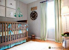 abodelove.blogspot.com #nursery #woodland #birch #stencil #mobile