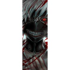 Black & Red Sclera Contact Lenses - Gremlin-Buy Full Eye Black Sclera... ❤ liked on Polyvore featuring tokyo ghoul