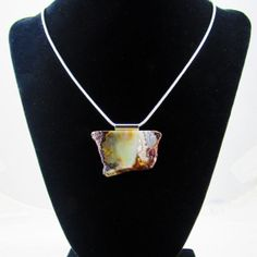 Banded Agate stone pendant on 18 Sterling Silver by GrassCreekFarm, $25.00
