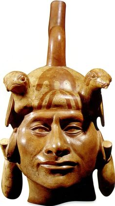 The Moche (Mochica) of Peru- 1-700AD  were masters of realism, as seen with this portrait vessel.