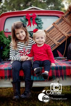 Kid photography, Christmas photography, Dunedin Florida photographer, Kid, Old red truck photography, carrier photography