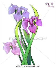 iris clipart - Google Search