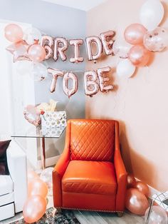 "Lovely rose gold ""bride to be"" bridal shower decoration balloons! Wedding Balloon Decorations, Engagement Decorations, Wedding Balloons, Bridal Shower Decorations, Wedding Themes, Wedding Decoration, Wedding Ideas, Bridal Shower Balloons, Gold Bridal Showers"