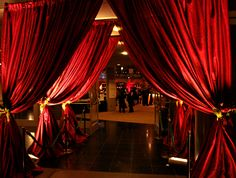 Decor-entryway into ballroom and on stage