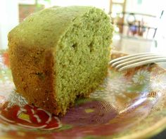 Green Tea Pound Cake from Food.com:   								This cake has a subtle green tea flavor, and is one of my Mom's favorite desserts.  Not overly sweet which is just fine for us!  I hope you will enjoy this Japanese treat!