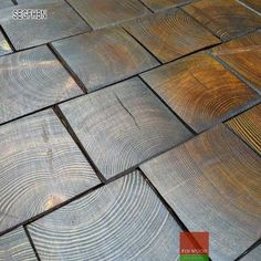 Fitting Hexagon Wood Tiles floors: traditional wood flooring is made of planks or block sawn lengthwise. The end-grain flooring on the other hand is made of woo Wood Tile Floors, Parquet Flooring, Vinyl Flooring, Hardwood Floors, Stairs Cladding, End Grain Flooring, Wood Floor Pattern, Wooden Plane, Natural Flooring