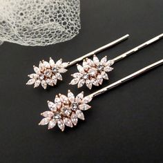 These lovely Bridal hair pins I personally designed and created exclusively for Treasures by Agnes. You will only find them here. Amazing detail