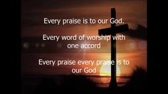 every praise is to our god glory hallelujah to our god Kinds Of Music, I Love Music, Praise And Worship Music, Gods Glory, Christian Songs, Gospel Music, Word Of God, Soundtrack, Music Videos