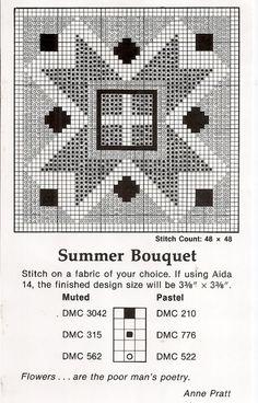 Quilt Cross Stitch Pattern 1