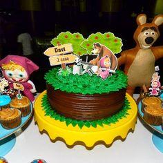 Masha e o Urso foi o  tema escolhido para o 2° aninho do Davi. Parabéns mamãe  @jackcavalcante_ ficou ...