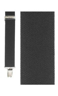 Dark Grey Newport Suspenders