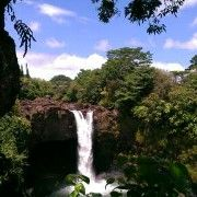 Rainbow falls it doesn't even look real it is so beautiful.