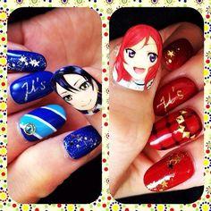ラブライブ!(Love Live!) : Character nail art