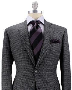 Brioni | Grey Check Sportcoat | Apparel | Men's