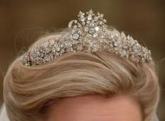 The Cubitt-Shand Tiara, Camilla's family tiara. A legacy of Sonia Rosemary Cubitt, Baroness Ashcombe (née Keppel), maternal grandmother of Camilla. Worn by Laura Parker-Bowles at her wedding.
