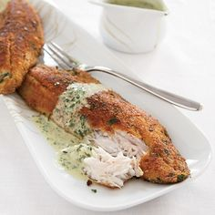 Sea Bass Fillets with Parsley Sauce