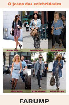 Vem ver os looks eleitos por celebridades que apostam no jeans!