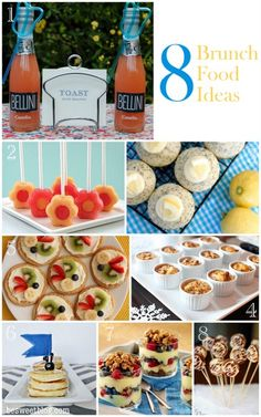 Yummy Brunch Food!...    I love the mini casserole idea and I've done fruit pizza before and it was a hit