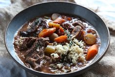 Upgrade your dinner with this make-ahead Slow Cooker Short Rib Stew and Wild Rice recipe. Wild Rice Recipes, Fall Crockpot Recipes, Fall Recipes, Slow Cooker Recipes, Cooking Recipes, Crockpot Meals, Freezer Meals, Cooking Ideas, Beef Recipes