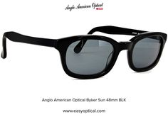 Anglo American Optical Byker Sun 48mm BLK Sunglasses, American, Style, Swag, Sunnies, Shades, Outfits, Eyeglasses, Glasses