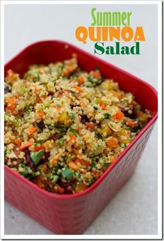 This is a yummy salad packed with veggies, but they are chopped small making it easy for kids to eat!
