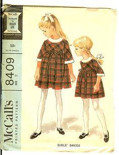 by Helen Lee, 1966 Vintage Kids Clothes, Vintage Girls Dresses, Vintage Children, Vintage Outfits, Childrens Sewing Patterns, Mccalls Sewing Patterns, Vintage Sewing Patterns, Retro Fashion, Kids Fashion