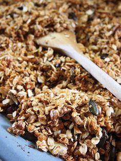 Granola homemade granola d Muesli, Granola, Stuffed Mushrooms, Food And Drink, Low Carb, Homemade, Vegetables, Cookies, Breakfast