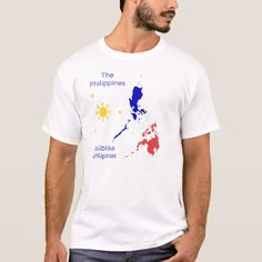 Shop Philippines Map Graphic T-Shirt created by WorldLingo. Philippines People, Philippines Flag, Philippine Map, Men's Collection, Fitness Models, Kids Outfits, Unisex, Casual, Sleeves
