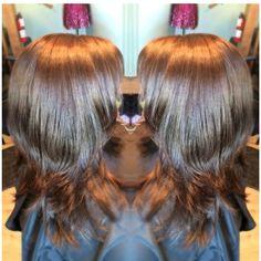 Rich brown hair color! Yum chocolaty!! #kayshairr