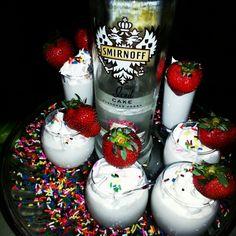 Birthday cake shots