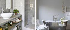 Une salle de bain grise se fait design et épurée pour aller à l'essentiel.Du gris perle au gris anthracite, la déco d'une salle de bain avec du gris se prête à tous les styles de déco en misant sur la sobriété et l'élégance. Peinture salle de bain, carrelage, béton ou marbre gris s'associent sans c