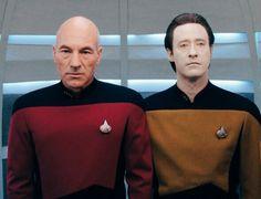 Patrick Stewart and Brent Spiner~ Captain Picard, Star Trek Next Generation