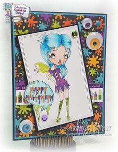 Glitter in my Hair, spooks, halloween, fairy, digi, oddball, oddball art, oddball art stamps, lizzy love