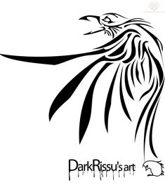 Dark Tribal Raven Tattoo Design - 2013/05/08 - Tattoo #985 ~ Semar88.Com