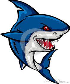 Shark cartoon for you design