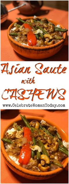 Asian Turkey And Green Beans Saute With Cashews. Easy flavorful recipe for dinner or even lunch.